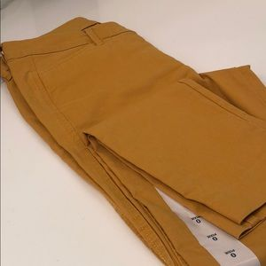 Mustard Yellow Cropped Pixie Pants